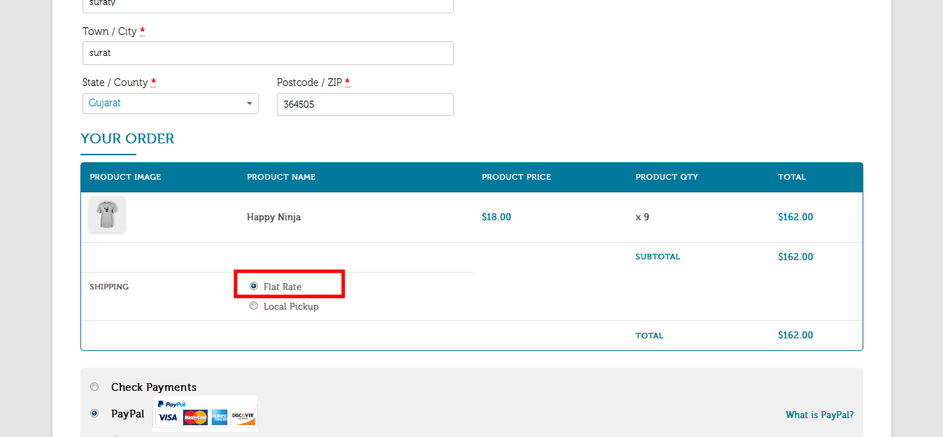 Payment & Shipping Method Based On Country / State - 2