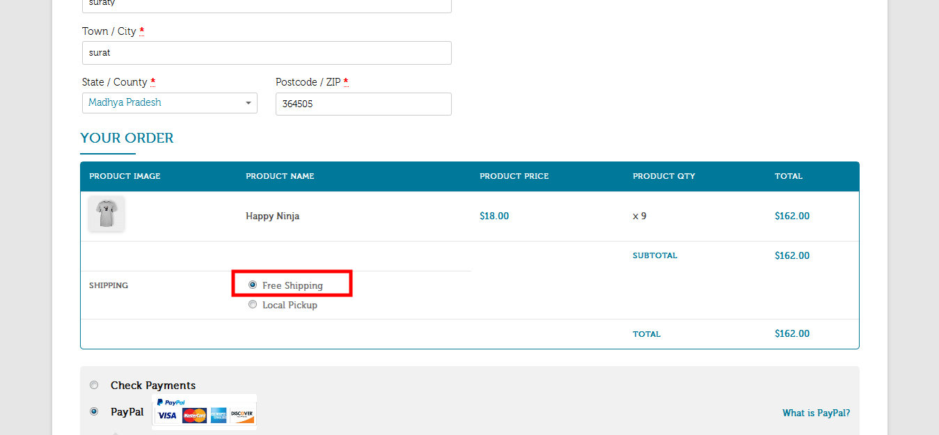 Payment & Shipping Method Based On Country / State - 3